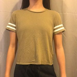 Forever 21 T-shirt Olive Green Women's Size Small